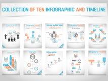 Grafico e grafico di elementi di Infographic Fotografia Stock
