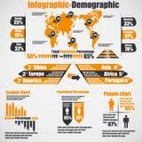 Grafico e grafico di elementi di Infographic Immagini Stock