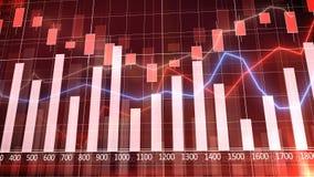 Grafico e istogramma del mercato azionario Fotografie Stock Libere da Diritti