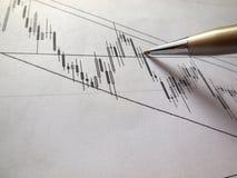 Grafico e penna quotidiani Fotografia Stock Libera da Diritti
