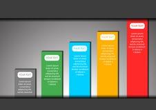 Grafico e spazio per il fondo di vettore del testo illustrazione vettoriale