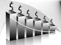 Grafico, estratto e dollaro Immagini Stock Libere da Diritti