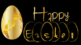 Grafico felice di pasqua dell'uovo dorato Fotografie Stock Libere da Diritti