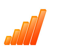 Grafico finanziario Fotografia Stock Libera da Diritti