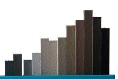 grafico finanziario 3D Immagine Stock