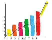 Grafico finanziario Fotografie Stock