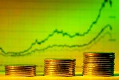 Grafico finanziario Fotografie Stock Libere da Diritti