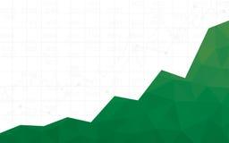 Grafico finanziario astratto con grafico lineare di uptrend nella progettazione del poligono e nei numeri di riserva nel fondo bi Fotografia Stock Libera da Diritti