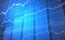 Grafico finanziario con le barre Fotografia Stock