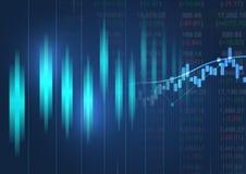 Grafico finanziario con grafico lineare alto di tendenza Immagini Stock