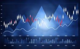 Grafico finanziario del mercato azionario Immagini Stock Libere da Diritti