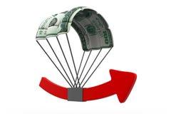 Grafico finanziario di crescita Fotografia Stock Libera da Diritti