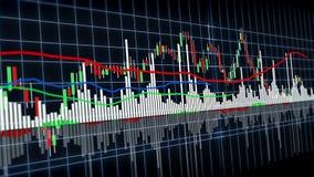 grafico finanziario 4K con i diagrammi che mostrano crescita aumentante del reddito di profitto per uso in finanza video d archivio