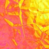 Grafico geometrico astratto giallo arancione di progettazione del fondo Immagine Stock