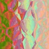 Grafico geometrico astratto rosa verde arancio di progettazione del fondo Fotografia Stock Libera da Diritti
