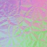 Grafico geometrico astratto viola rosa verde di progettazione del fondo Fotografia Stock