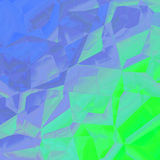 Grafico geometrico di progettazione del fondo dell'estratto di verde blu Immagini Stock