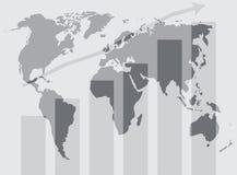 Grafico globale di sviluppo del mondo royalty illustrazione gratis