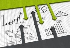 Grafico di affari Immagine Stock