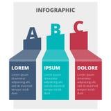 Grafico infographic astratto Fotografie Stock Libere da Diritti