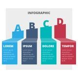 Grafico infographic astratto Fotografia Stock