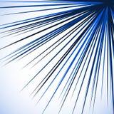 Grafico irritabile astratto con le linee radiali che si spargono dall'angolo S illustrazione vettoriale