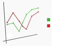 Grafico lineare Fotografie Stock
