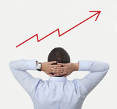 Grafico lineare di osservazione Immagini Stock