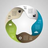 Grafico moderno di informazioni di vettore per il progetto di affari Fotografia Stock