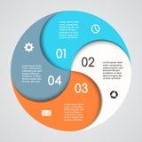 Grafico moderno di informazioni di vettore per il progetto di affari Fotografie Stock