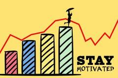 grafico motivato di soggiorno con il grafico rampicante della donna Fotografie Stock Libere da Diritti
