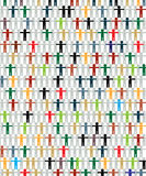 Grafico Multiracial di concetto Fotografie Stock