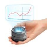 Grafico olografico aumentante Fotografia Stock