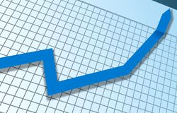 Grafico ottimista Fotografia Stock Libera da Diritti