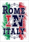 Grafico per la maglietta, stampa di vettore dell'Italia fotografia stock libera da diritti