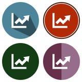 Grafico piano delle icone su Immagini Stock