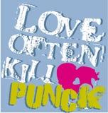 Grafico punk di amore illustrazione vettoriale