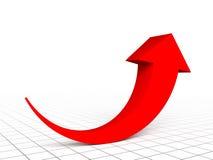 Grafico rosso della freccia Fotografia Stock