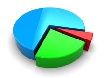 grafico a settori 3d Immagini Stock Libere da Diritti