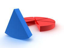 Grafico a settori Fotografia Stock