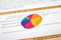 Grafico a settori variopinto Fotografia Stock Libera da Diritti