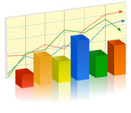 Grafico a strisce illustrazione vettoriale