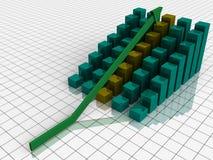 Grafico a strisce aumentante Immagine Stock Libera da Diritti