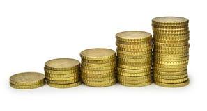 Grafico a strisce dei dieci un euro centesimi Fotografie Stock