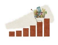 Grafico a strisce del carrello Immagini Stock Libere da Diritti