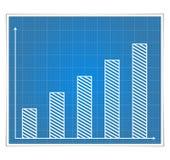 Grafico a strisce della cianografia Immagini Stock