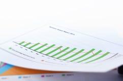 Grafico a strisce di affari Immagini Stock Libere da Diritti