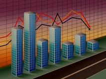 Grafico a strisce di affari Fotografia Stock Libera da Diritti