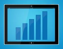 Grafico a strisce sul calcolatore del ridurre in pani Fotografie Stock Libere da Diritti