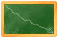 Grafico sulla lavagna giù illustrazione di stock